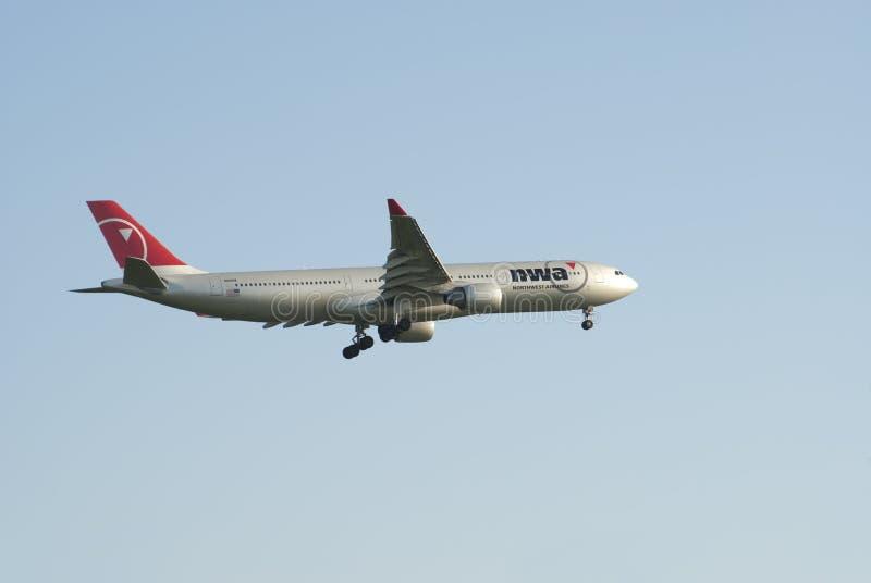 Northwest Airlines, Airbus A330 images libres de droits