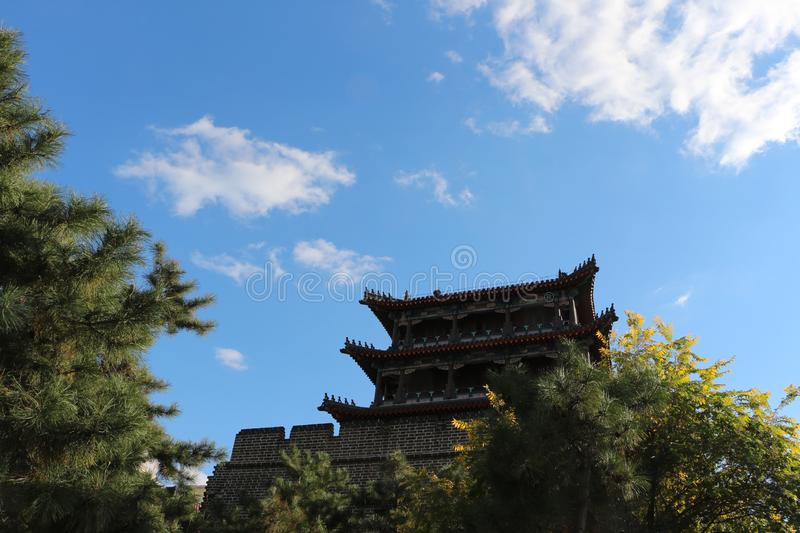 Northwest Corner Tower of Shenyang Ancient City, China. Northwest Corner Tower of Shenyang Ancient City in Shenyang, Liaoning Province, China stock photography