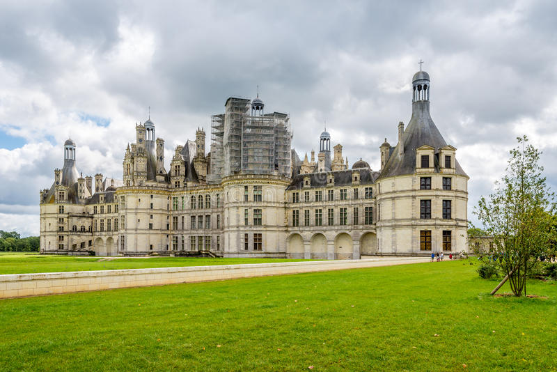 Northwest fascade of the Chateau de Chambord royalty free stock images