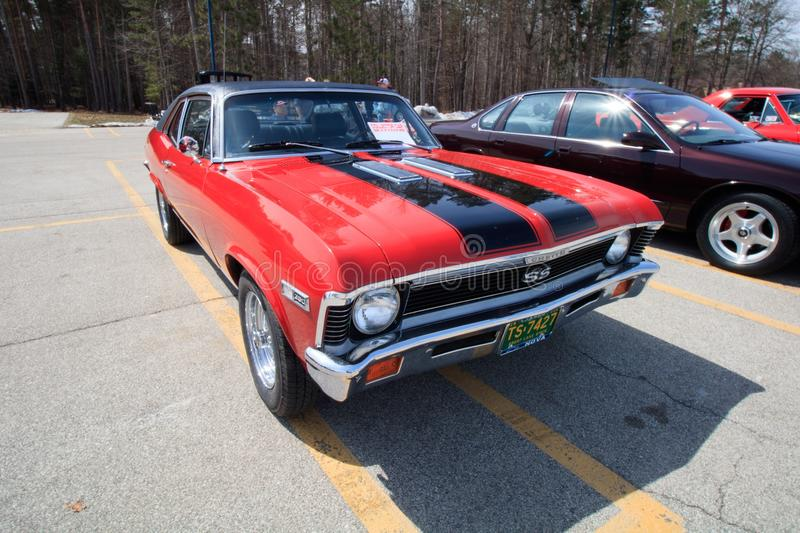Old muscle car royalty free stock photos