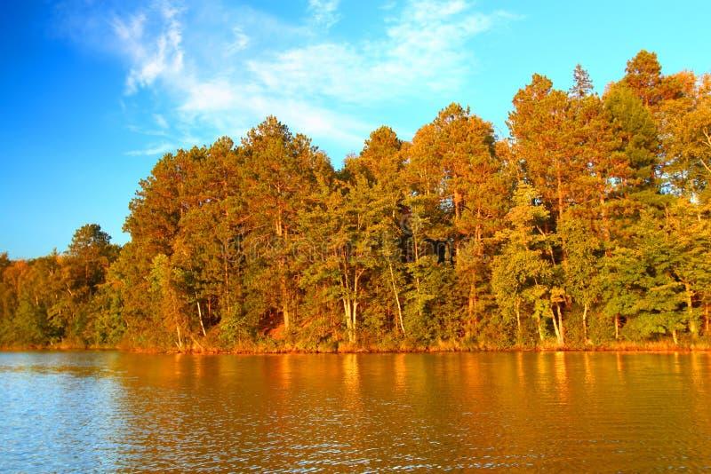 Northwoods Autumn Landscape Wisconsin royalty free stock photography