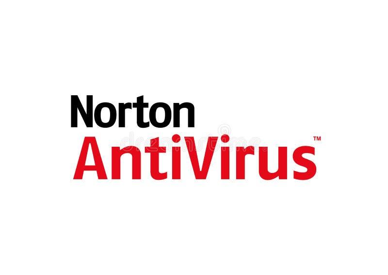 Norton antivirus Logo. JPG format avaliable White background stock illustration