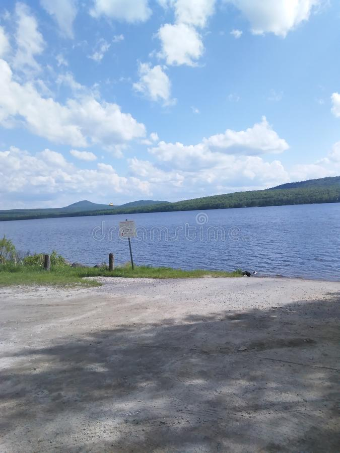 Norton grande vermont do lago Avril imagem de stock royalty free