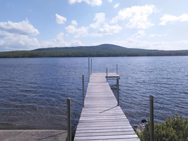 Norton grande vermont do lago Avril fotografia de stock royalty free