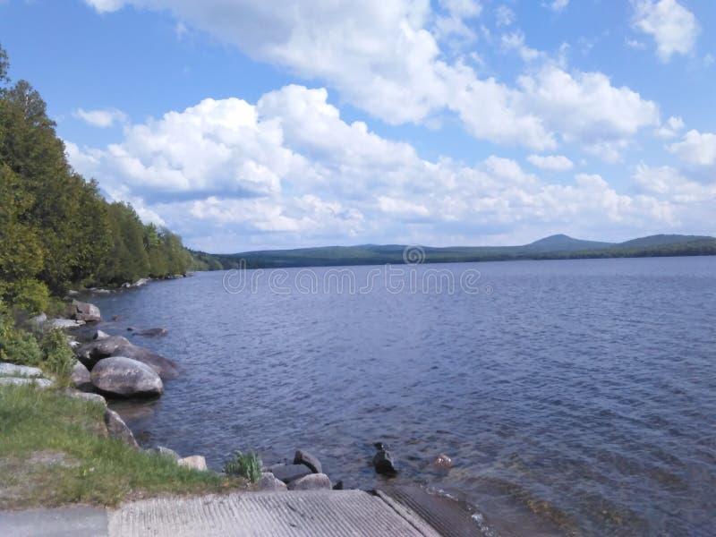 Norton grande vermont do lago Avril fotografia de stock
