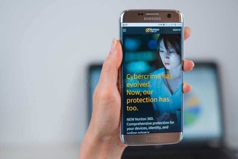 Norton Mobile Security And Antivirus App Editorial Photo