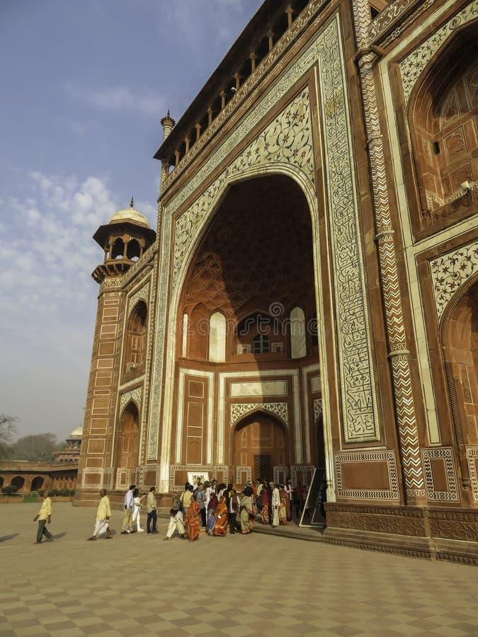 Nortpoort Enerance aan Taj Mahal royalty-vrije stock afbeeldingen