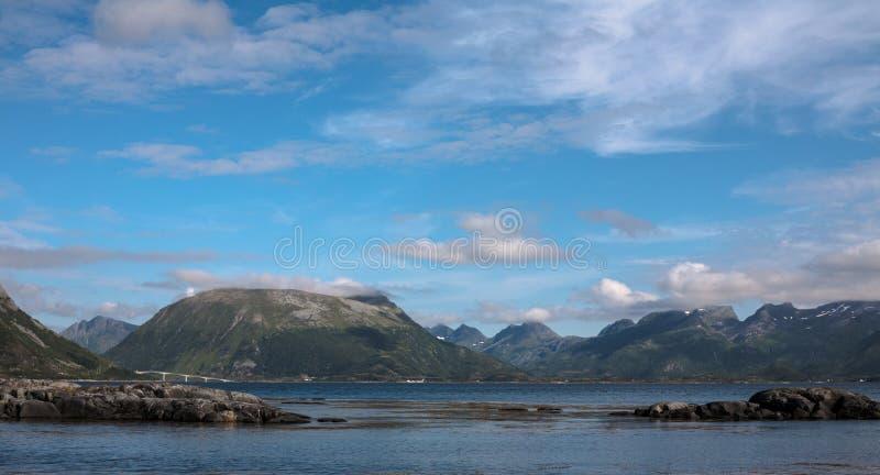 Noruega azul fotografia de stock royalty free