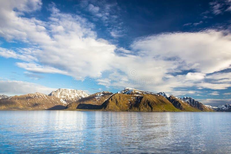Noruega do norte perto de Alta fotografia de stock royalty free