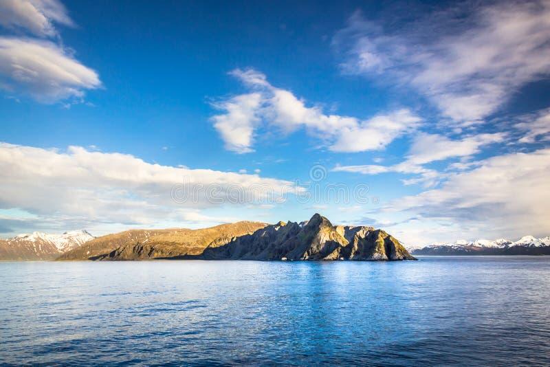 Noruega do norte perto de Alta imagem de stock