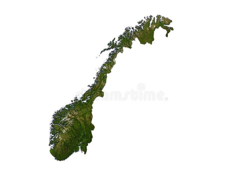 Noruega en el fondo blanco stock de ilustración