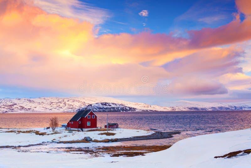Noruega en invierno foto de archivo libre de regalías