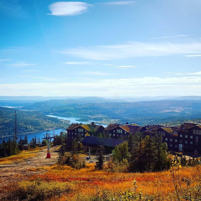 Noruega, Hafjell, otoño, octubre fotos de archivo libres de regalías