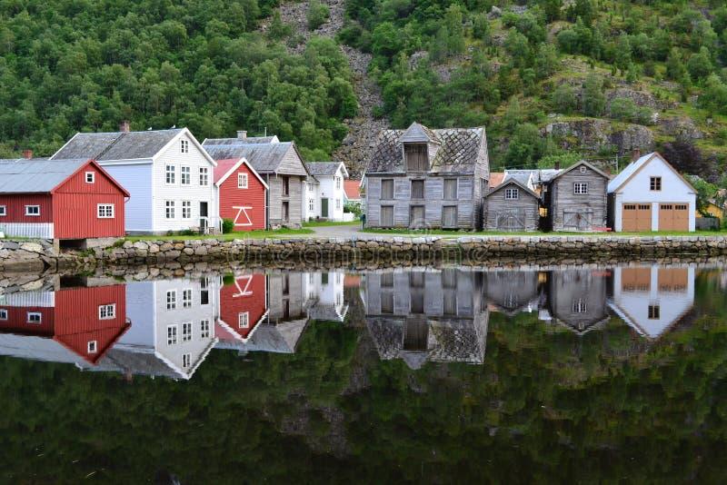 Noruega Laerdalsoyri fotografía de archivo libre de regalías