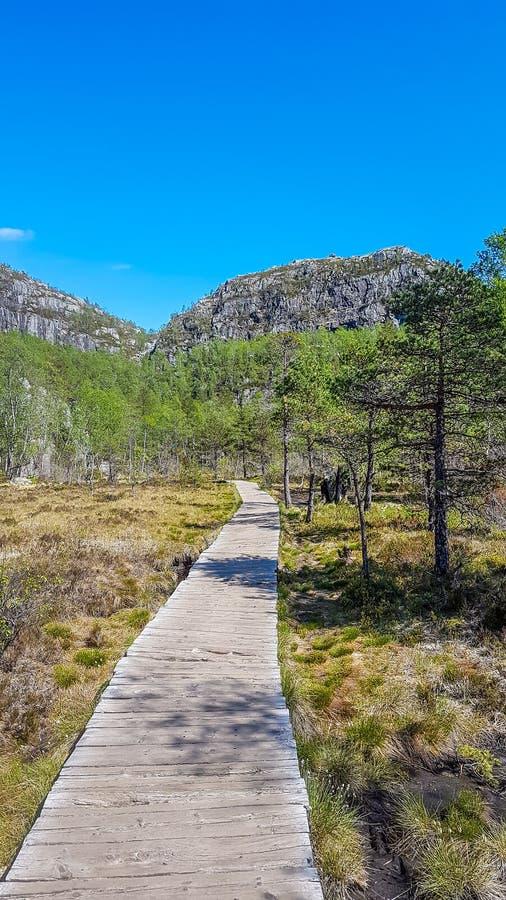 Noruega - um caminho à aventura foto de stock royalty free