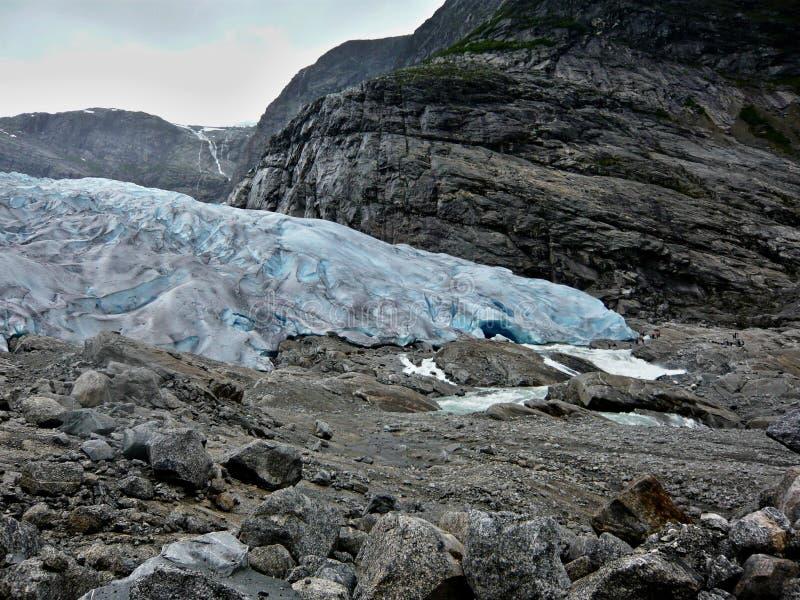 Norvège-glacier Nigardsbreen image libre de droits