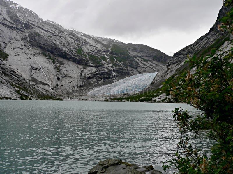 Norvège-glacier Nigardsbreen images stock