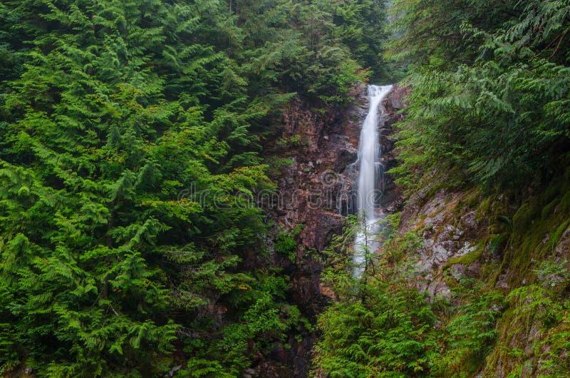 Norvan tombe cascade, Vancouver du nord, Colombie-Britannique photo stock