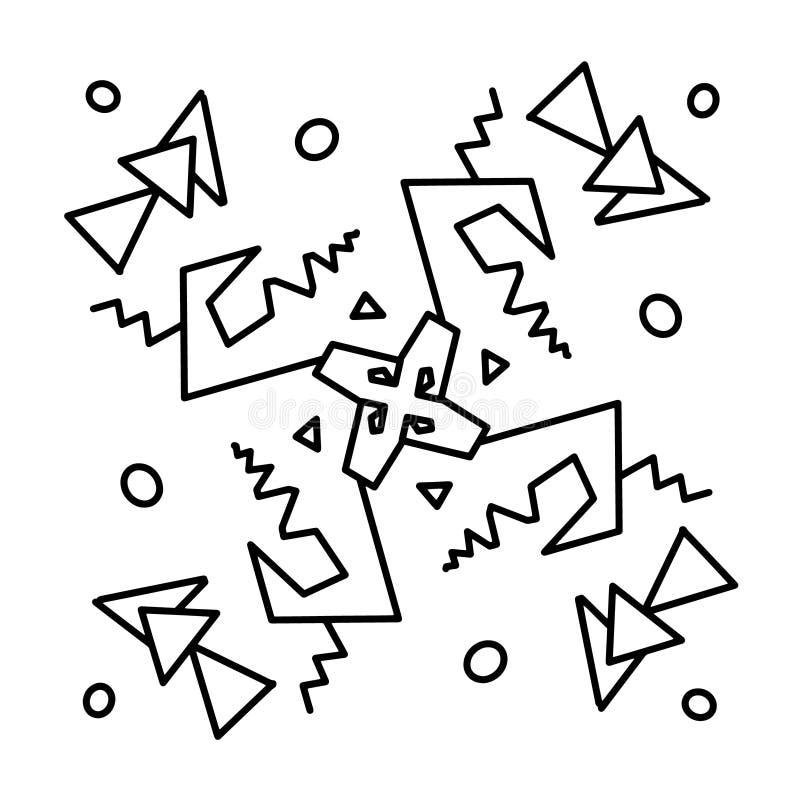 Norvegesi di Futhark islandic e rune di vichingo messe Simboli magici di tiraggio della mano come talismani scritti secondo copio royalty illustrazione gratis