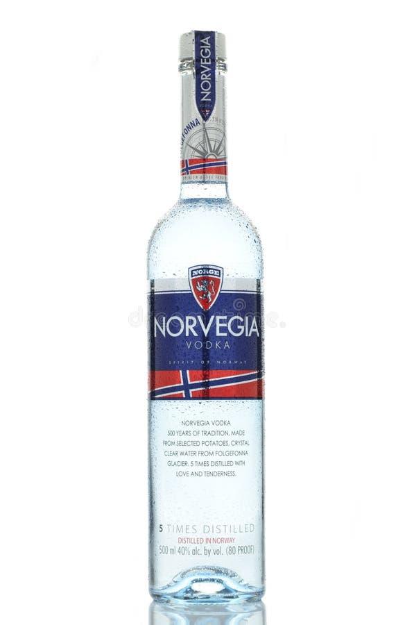 Norvegia premium vodka isolated on white background royalty free stock images