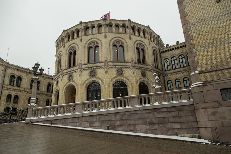 Norwagian parlament zdjęcie stock