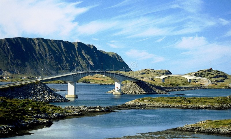 Norway bridges. In nature landscape royalty free stock photography