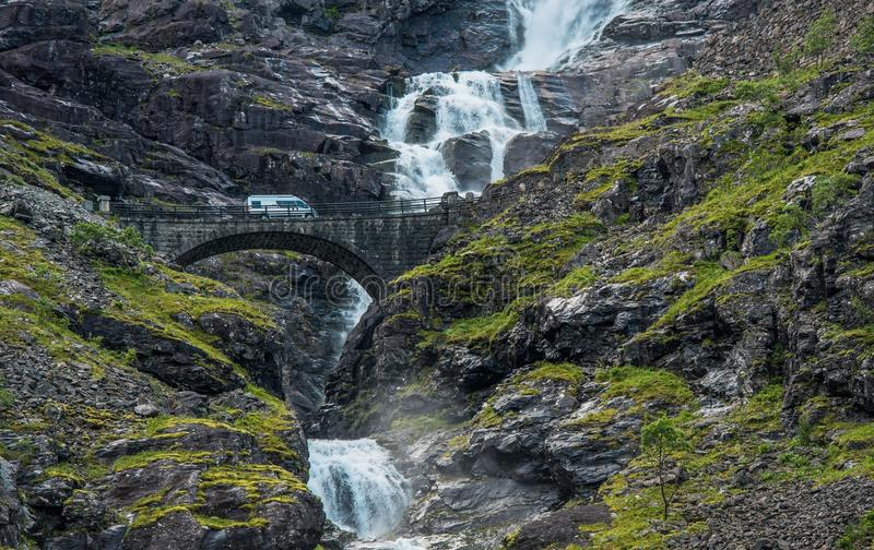 Norway Camper Van Trip stock photo