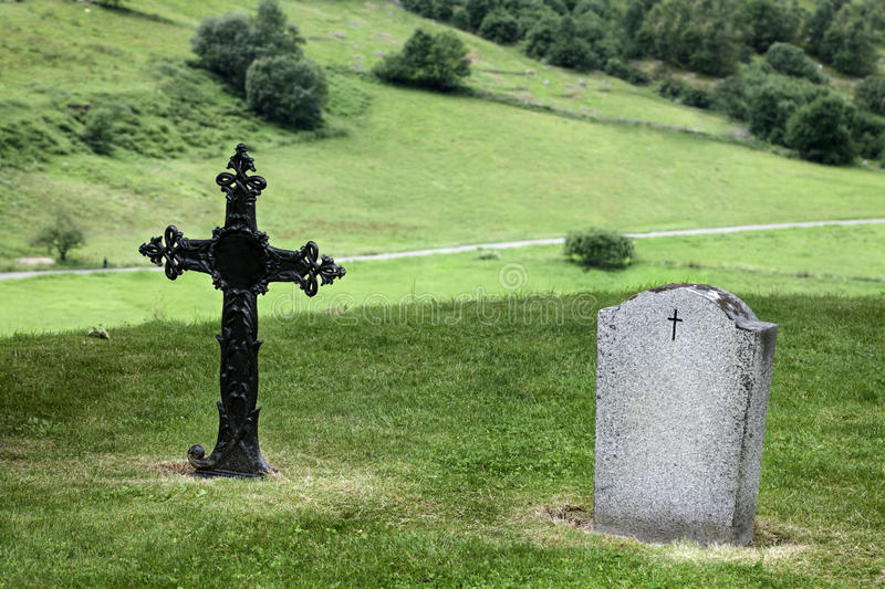 Download Norway Cemetery stock photo. Image of grass, rood, gravestone - 26265186