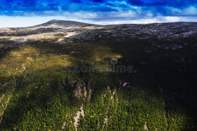 Norway daylight mountain with kite flyer landscape background. Hd stock images