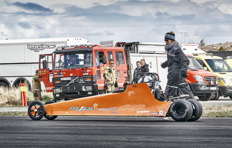 Norway drag racing, car drifting competition royalty free stock photo