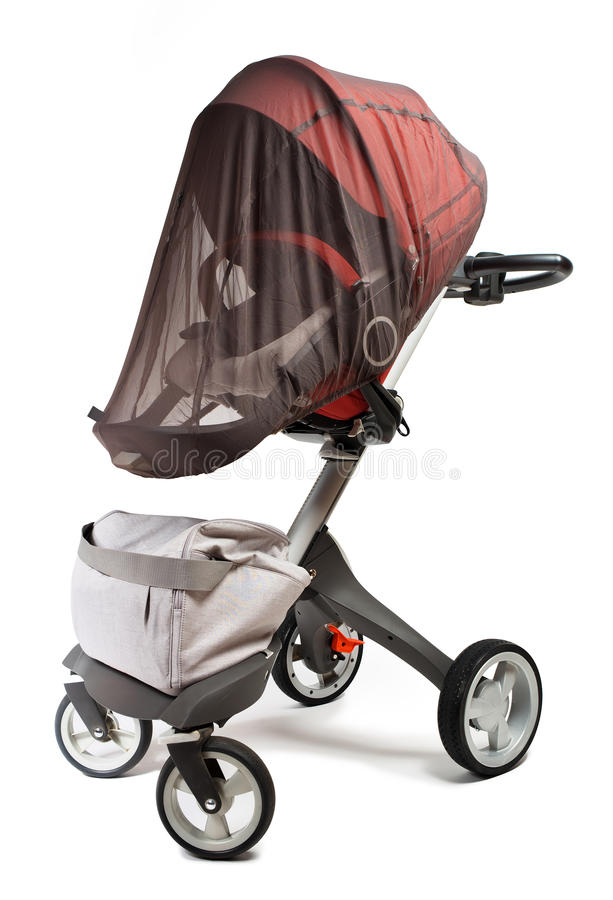 Norway elite baby carriage. Isolated on a white background royalty free stock images