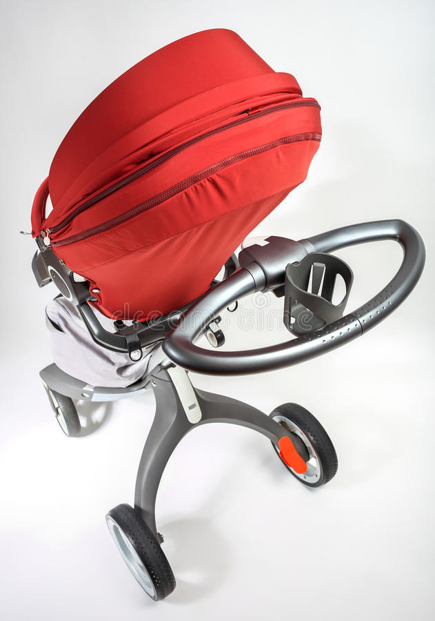 Norway elite baby carriage. On a white background royalty free stock images