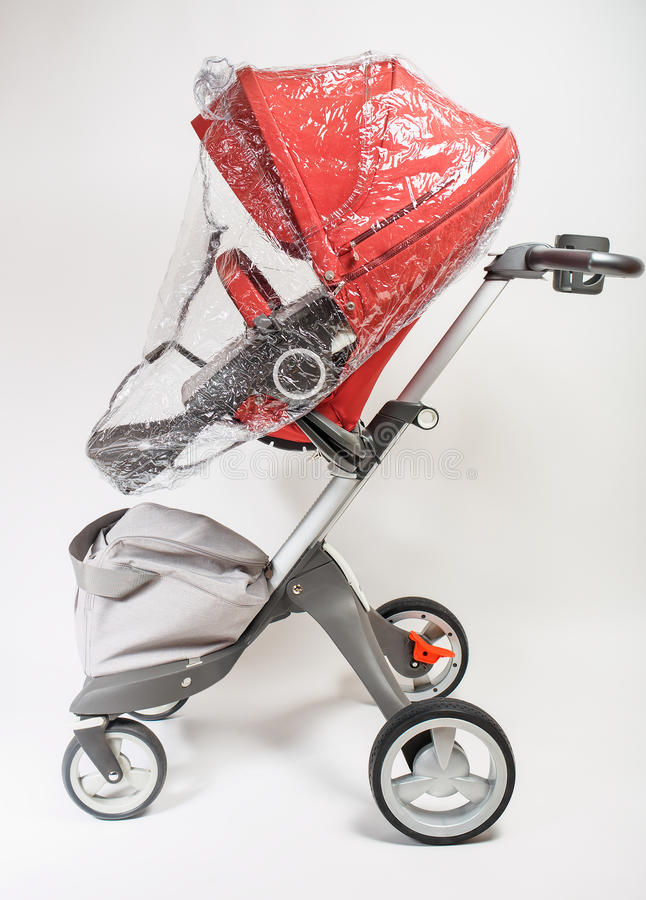 Norway elite baby carriage. On a white background stock photo