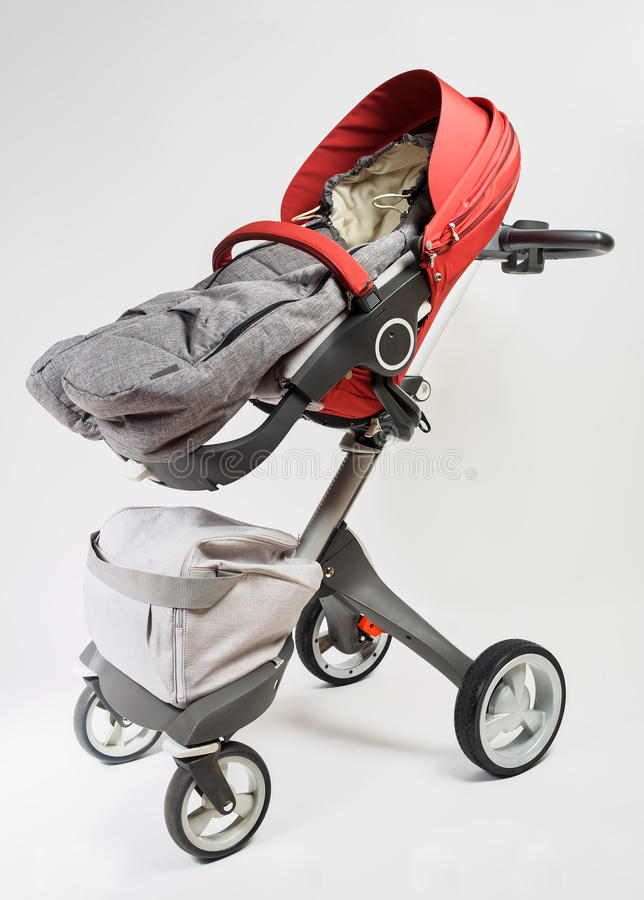 Norway elite baby carriage. On a white background stock image