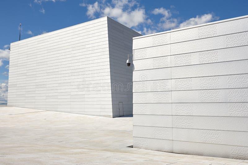 norway Facciata della costruzione del operahouse di Oslo Visita di viaggio di turismo immagine stock libera da diritti