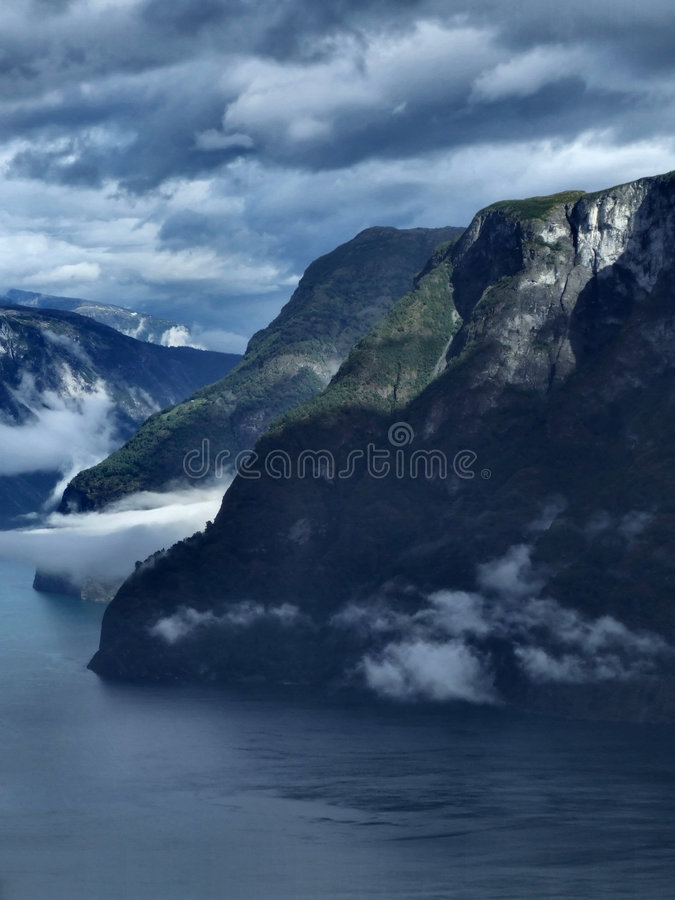 Norway - fjord landscape royalty free stock photo
