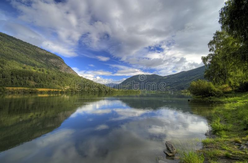 Download Norway fjord reflection stock photo. Image of peace, clouds - 3001618