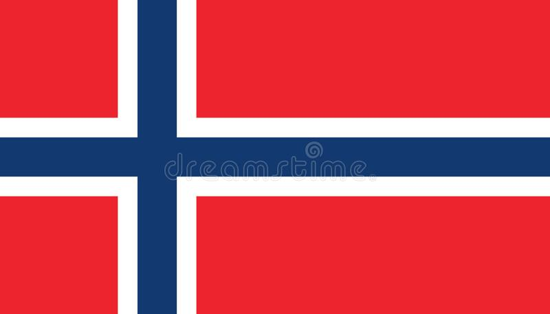 Norway flag icon in flat style. National sign vector illustration. Politic business concept vector illustration