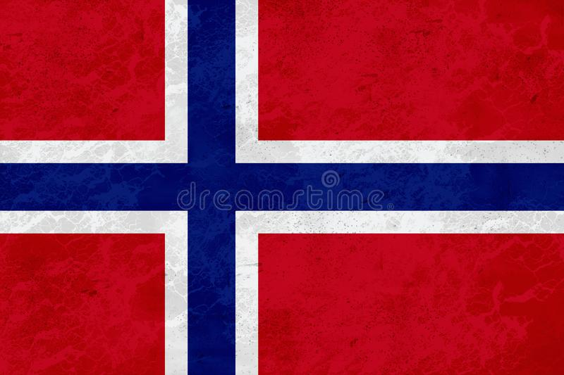 Norway flag - marble texture royalty free stock photo