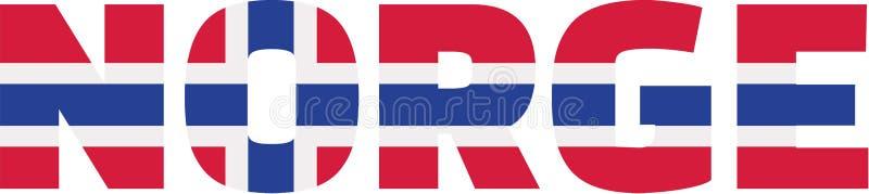 Norway flag - Norge royalty free illustration