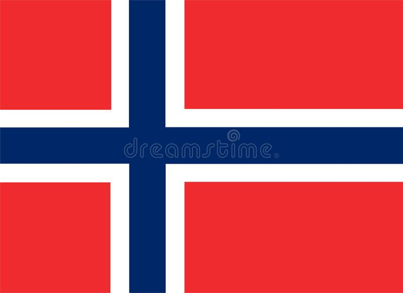 Norway flag vector.Illustration of Norway flag vector illustration