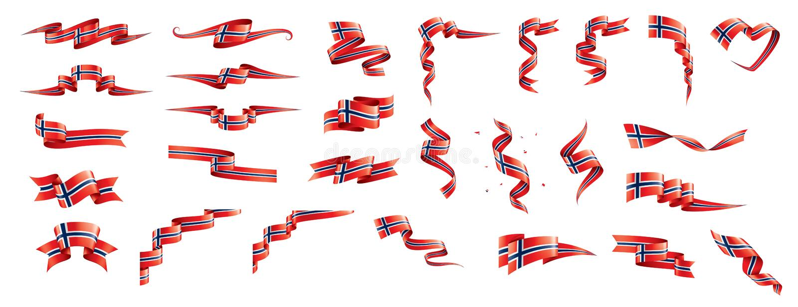 Norway flag, vector illustration on a white background royalty free illustration