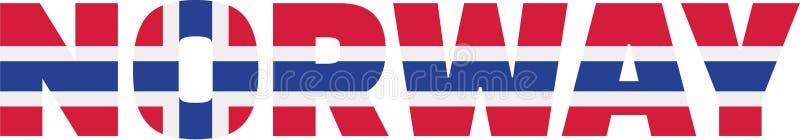 Norway flag word royalty free illustration