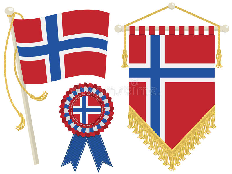 Download Norway flags stock vector. Image of wall, hanging, symbol - 25660875