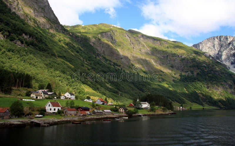Norway - Hardangenfjord. The fjords are nature's own work of art, formed when the glaciers retreated, and sea water flooded the U-shaped valleys. Norway stock image