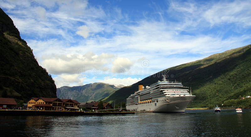 Norway - Hardangenfjord. The fjords are nature's own work of art, formed when the glaciers retreated, and sea water flooded the U-shaped valleys. Norway royalty free stock photography