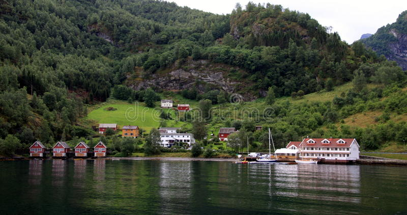 Norway - Hardangenfjord. The fjords are nature's own work of art, formed when the glaciers retreated, and sea water flooded the U-shaped valleys. Norway royalty free stock photos