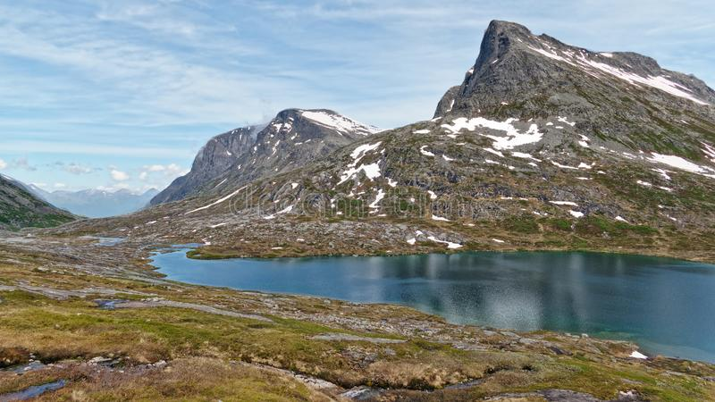 Norway. Hike through the beautiful Rauma royalty free stock image