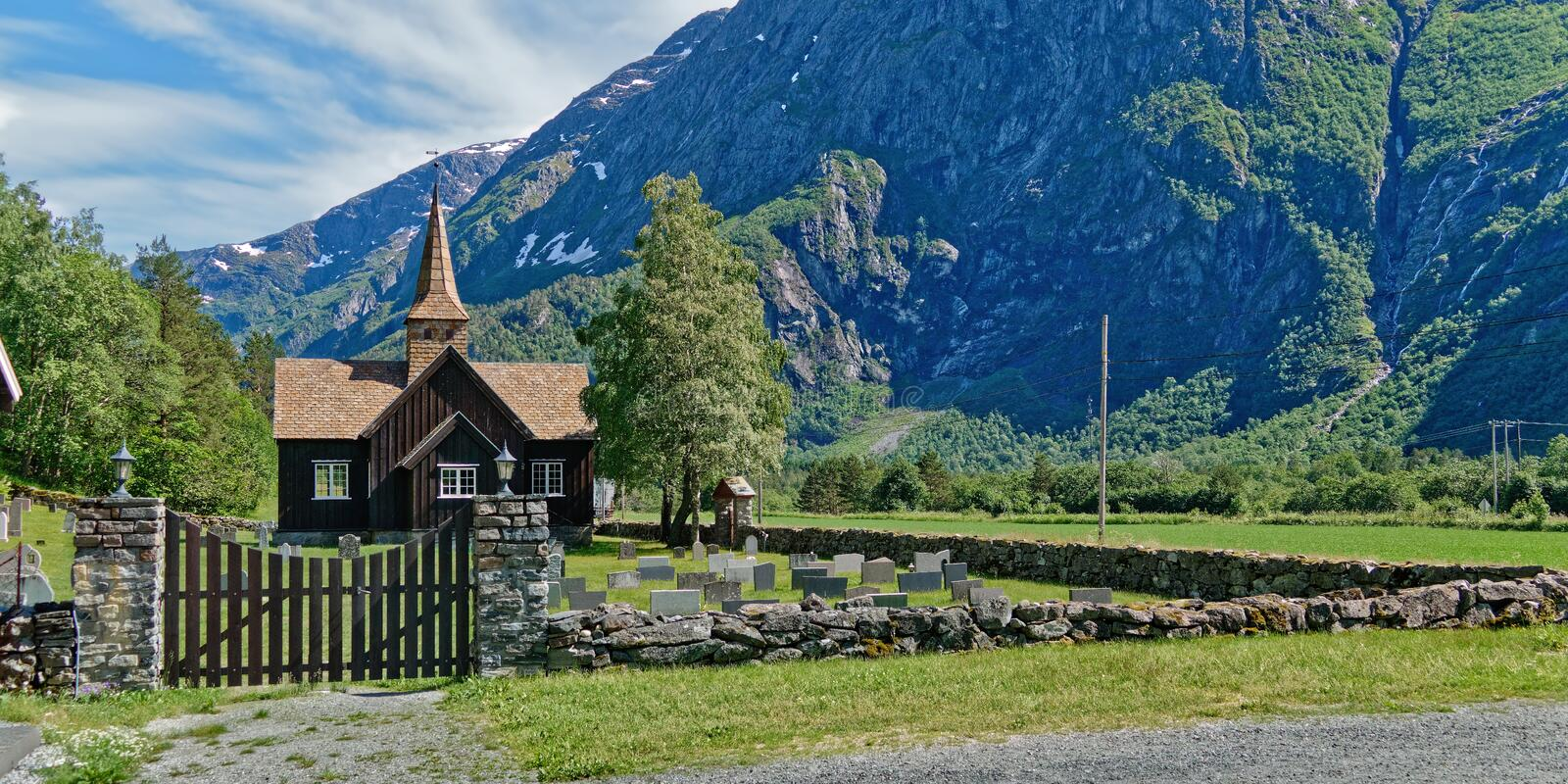 Norway. Hike through the beautiful Rauma royalty free stock photography