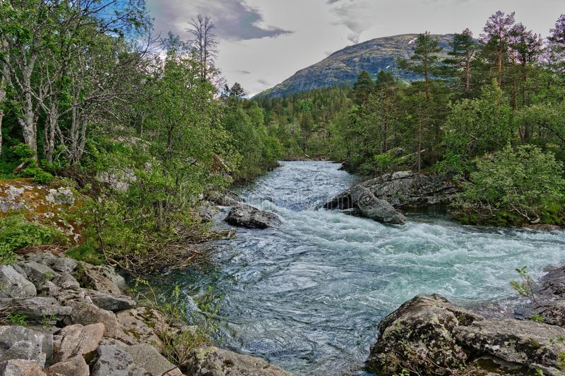 Norway. Hike through the beautiful Rauma royalty free stock images